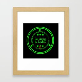 ABC Green (Black) Framed Art Print