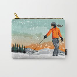 Skier Looking Carry-All Pouch
