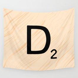 Scrabble Letter D - Large Scrabble Tiles Wall Tapestry