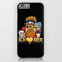 Ich liebe Bier - Brauerei Oktoberfest Saufen Alk iPhone Case