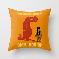 hook Throw Pillows featuring HOOK : Huge Hook by SimonCARUSO.com
