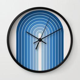 Gradient Arch - Classic Blue Tones Wall Clock