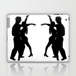 Dance with me - Ink Painting Wall Art Home Decor Black and White Music Illustration Dance Salsa Laptop & iPad Skin
