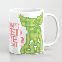 gizmo Mugs featuring 8 bit Gizmo by Canis Picta