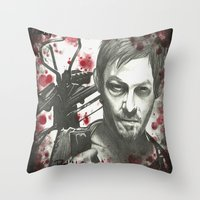 daryl dixon Throw Pillows featuring Daryl Dixon by LisilV