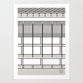 Banco Central de Venezuela -Detail- Art Print
