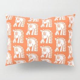 Mid Century Horse Pattern Orange Pillow Sham