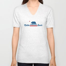 Malibu - California. Unisex V-Neck