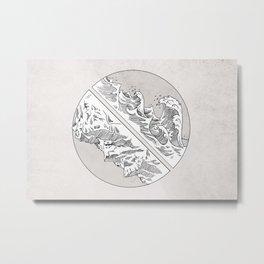 Mountains // Waves Metal Print