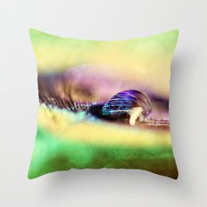 Vivid Abstract Feather Throw Pillow