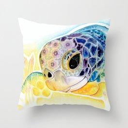 Crystal Turtle Throw Pillow