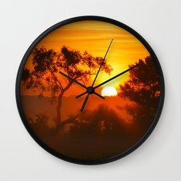 """""""Foggy Summer Morning Wall Clock"""