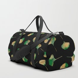 Ginkgo biloba leaves black Duffle Bag