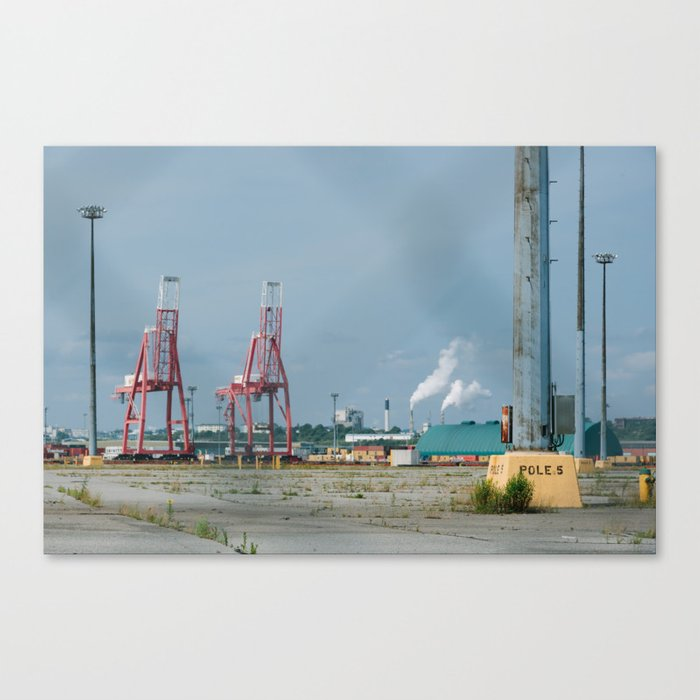 Pole #5 - Saint John Port Canvas Print