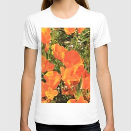 Orange Gold California Poppies by Reay of Light T-shirt