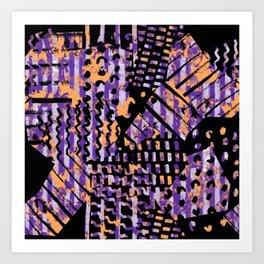 Colorful brush pattern Art Print