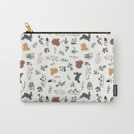 Bunnies and spring flowers Carry-All Pouch