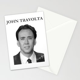 Nicolas Cage Signed as John Travolta from Face Off Stationery Cards