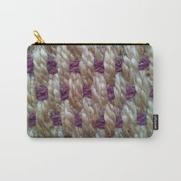 Purple Weaved Carry-All Pouch