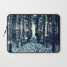 Magical Forest Teal Gray Elegance Laptop Sleeve