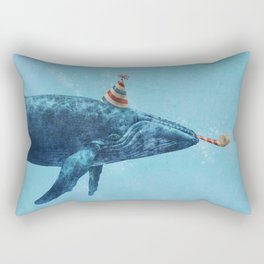 Party Whale  Rectangular Pillow