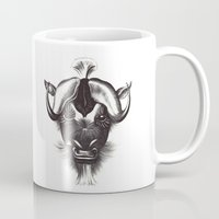 buffalo Mugs featuring Buffalo  by tangledribbons
