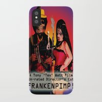 movie poster iPhone & iPod Cases featuring Frankenpimp (2009) - Movie Poster by Tex Watt
