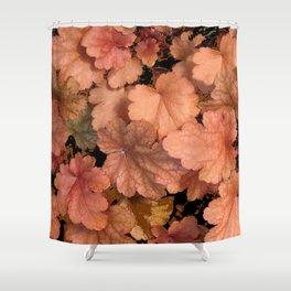 DECORATIVE CUMIN ORANGE GARDEN LEAVES Shower Curtain