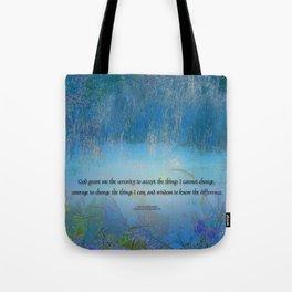 Serenity Prayer Blue Marsh Tote Bag