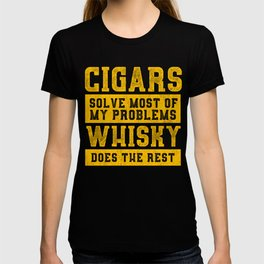 Cigars and Whisky Design For Men Who love Cigar design T-shirt
