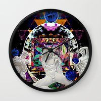 coven Wall Clocks featuring Surrealist's Coven by Nicholas Lucius.
