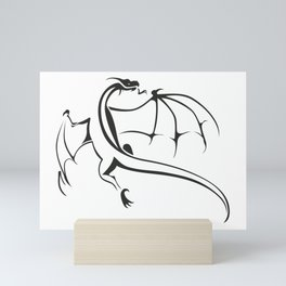 A simple flying dragon Mini Art Print