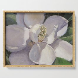 Magnolia Blossom Painting Serving Tray