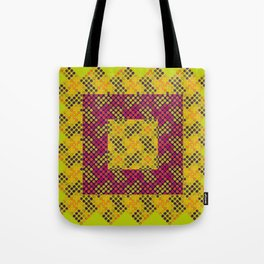 Dot Swatch Equivocated on Chartreuse Tote Bag