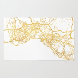 ISTANBUL TURKEY CITY STREET MAP ART Rug