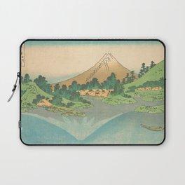 Reflection in Lake at Misaka in Kai Province, Thirty-six Views of Mount Fuji by Katsushika Hokusai Laptop Sleeve