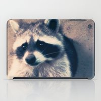 racoon iPad Cases featuring racoon by oslacrimale