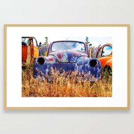 Rusty Gold Framed Art Print