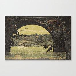 Schuylkill River Bridge Canvas Print