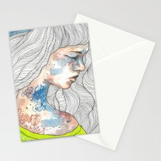 Hideout, watercolor illustration Stationery Cards
