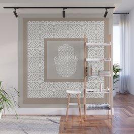 Hamsa in morrocan pattern Wall Mural