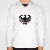 german Hoodies featuring German Eagle by Richard Fay