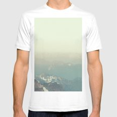 In the end, we conquer ourselves White Mens Fitted Tee MEDIUM