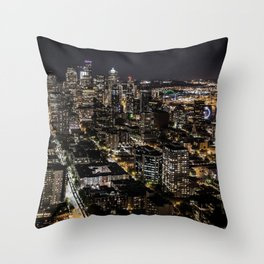 Seattle from the Space Needle Throw Pillow