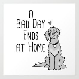 A Bad Day Ends at Home Art Print