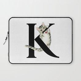 Cat Monogram Collection K Laptop Sleeve