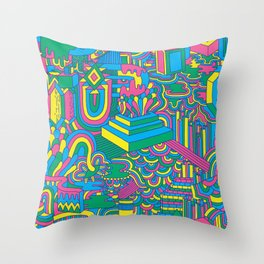 Trippy Pattern Throw Pillow