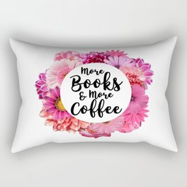 More Books & More Coffee Rectangular Pillow