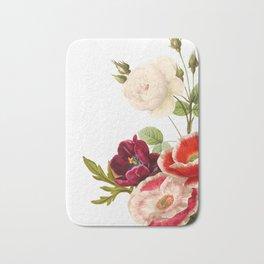 romantic floral design Bath Mat