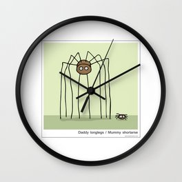 Daddy Longlegs / Mummy Shortarse Wall Clock